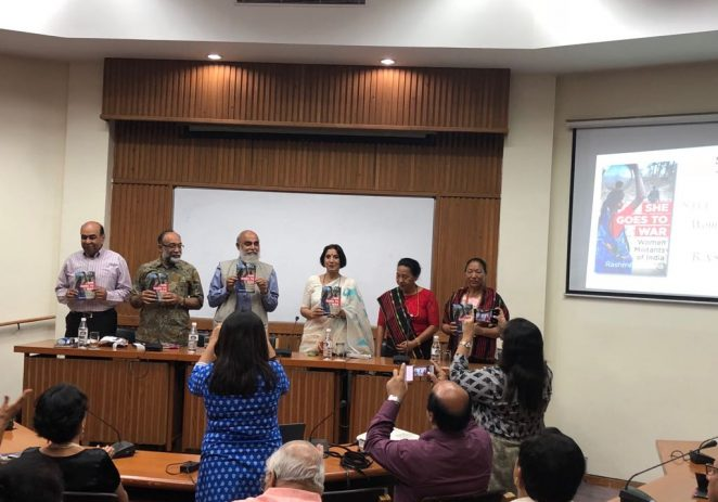 Senior journalist Rashmi Saxena's book release 'She Goes To War'- on women militants, May 24, 2018
