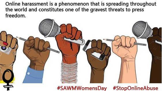 Online abuse must end   #SAWMWomensday #StopOnlineAbuse