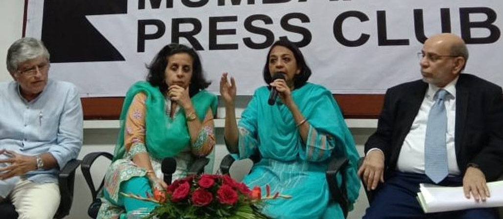 """Anuradha Bhasin said at Mumbai Press Club – """"Clampdown is a situation where people are restricted to communicate is itself torture and denial of democratic rights. It cannot be justified."""""""
