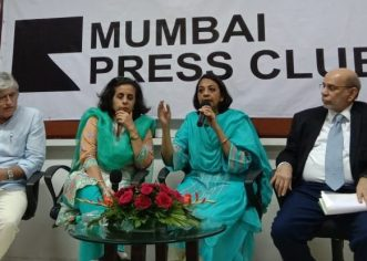 "Anuradha Bhasin said at Mumbai Press Club – ""Clampdown is a situation where people are restricted to communicate is itself torture and denial of democratic rights. It cannot be justified."""