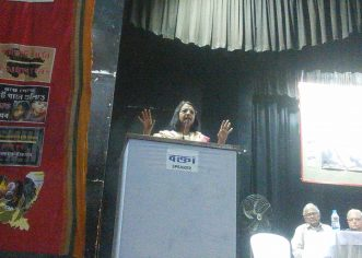 Anuradha Bhasin the editor of Kashmir Times speaking in Kolkata on the situation of Kashmir after the abrogation of  Article 370 in a seminar organized by APDR on Human Rights Violation.