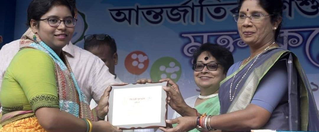 SAWM Kolkata member Anwesha Banerjee was awarded for Best Article on Child Rights on 20th Nov